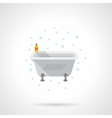 Bath with foam flat color icon vector image