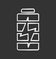 battery charging chalk icon vector image vector image