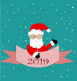 beautiful greeting card banner with santa claus vector image vector image