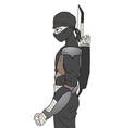 black ninja vector image vector image