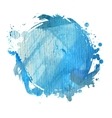 blue watercolor blot vector image