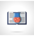 Book of chemical experiments flat icon