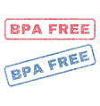 bpa free textile stamps vector image vector image
