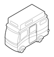 Camper van icon isometric 3d style vector image vector image