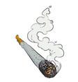 cartoon image of marijuana joint vector image