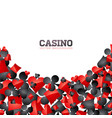 casino playing card symbols on white background vector image vector image