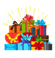 celebration background with gift boxes vector image vector image