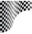 checkered flag wave white design race sport vector image