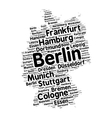 Cities of Germany word cloud vector image vector image