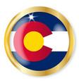 colorado flag button vector image