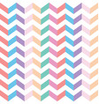 colorful zig zag fabric seamless texture vector image vector image