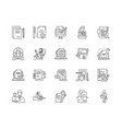 contract line icons signs set outline vector image vector image