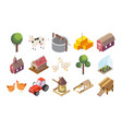 countryside icons set vector image vector image