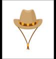 cowboy hat american style headwear icon vector image