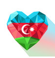 crystal azerbaijans heart with the flag of the vector image vector image