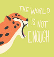 cute exotic wild big cat cheetah roaring on mint vector image