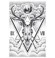 deer skull sacred geometry vector image vector image