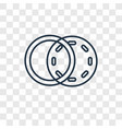 diagrams concept linear icon isolated on vector image