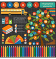 Education school infographics Set elements for vector image vector image