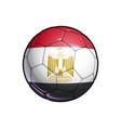 egyptian flag football - soccer ball vector image vector image