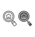 find real estate company line and glyph icon vector image