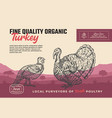 fine quality organic poultry abstract meat vector image vector image