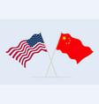 flag usa and china together a symbol vector image vector image