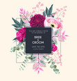 floral card with flowers and greenery vector image