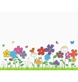 Flower glade vector image vector image