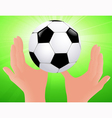 Football bright background vector image vector image