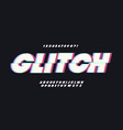 glitch font bold style vector image