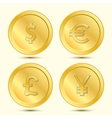 Golden Coins Set vector image vector image