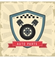 Grunge and Striped Auto part design vector image vector image