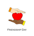 happy friendship day celebration concept with two vector image