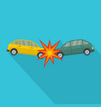 head collision icon flat style vector image vector image
