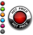 Hot price button vector image