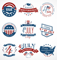 Independence Day Badges and Labels vector image