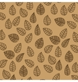 leafs background design vector image