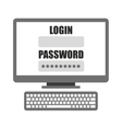 Login template in computer isolated icon design