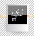 mail with bin vector image vector image