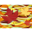 Maple leaves fall seamless pattern vector image vector image