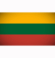 National flag of Lithuania vector image vector image