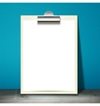 paper mockup hanging vector image