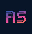 r and s initials or logo rs - monogram vector image vector image