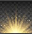 realistic transparent yellow sun rays warm orange vector image vector image