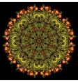 Round khokhloma pattern vector image