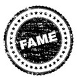 scratched textured fame stamp seal vector image