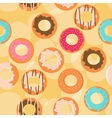 Seamless donuts background vector image vector image