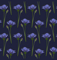 seamless pattern blue cornflower vector image vector image