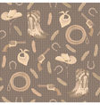 seamless pattern with cowboy elements vector image